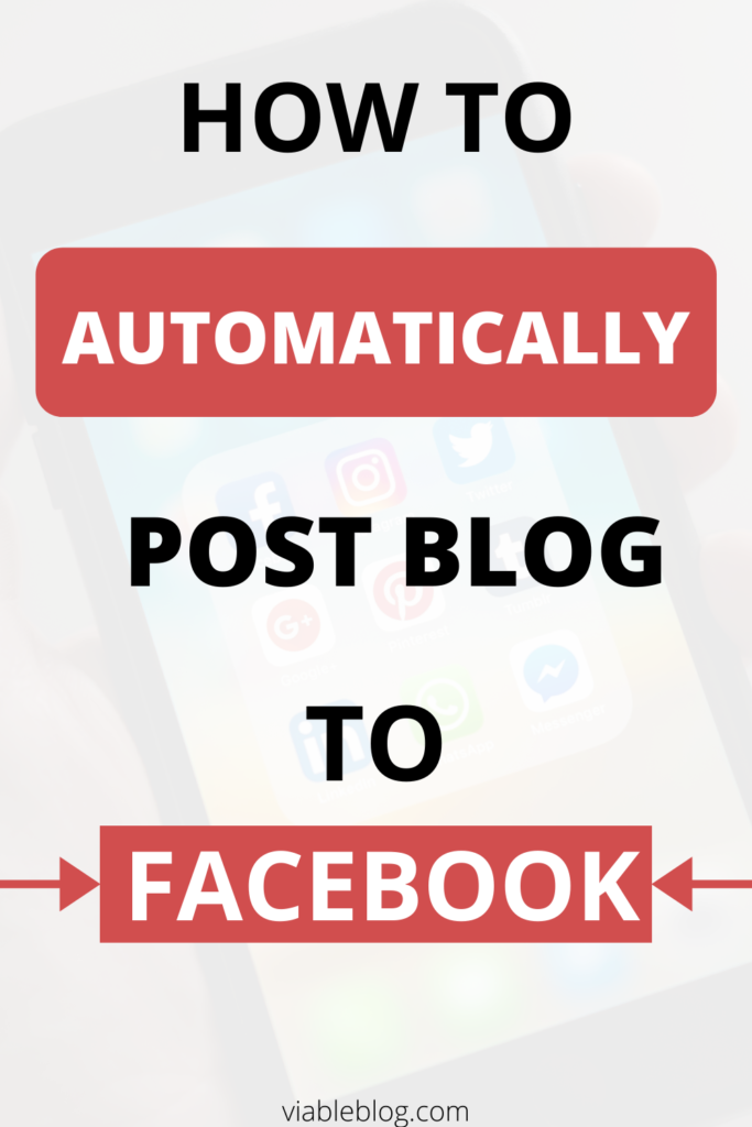 automatically post blog to Facebook